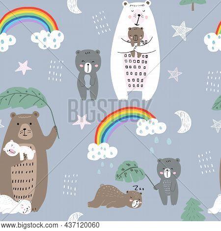 Cute Bear Family Pattern