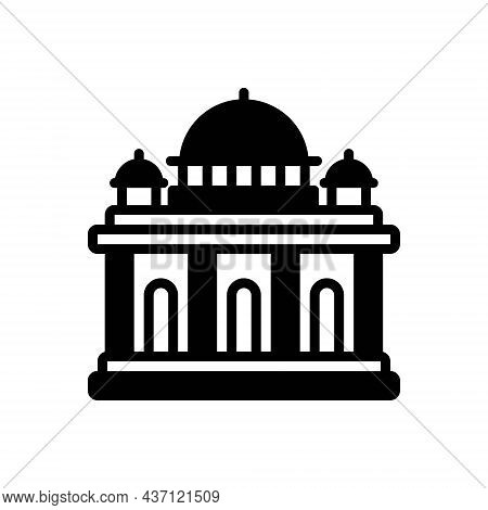 Black Solid Icon For Supreme Building Court Highest Constitution Architecture Government Authority