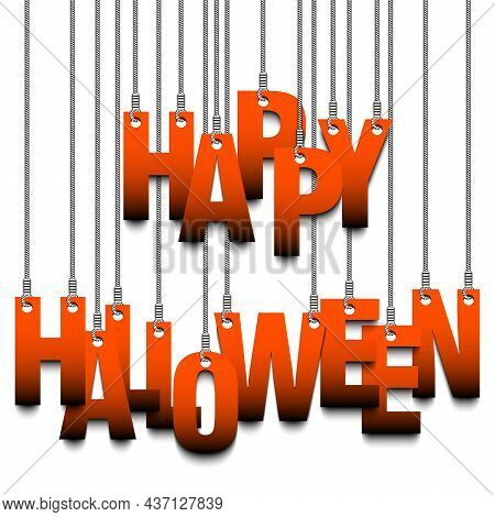 Congratulation Happy Halloween Hanging On Strings