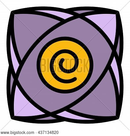 Spiral Hypnosis Icon. Outline Spiral Hypnosis Vector Icon Color Flat Isolated