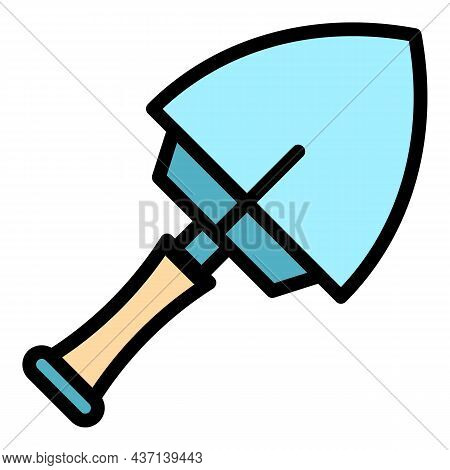 Instrument Trowel Icon. Outline Instrument Trowel Vector Icon Color Flat Isolated
