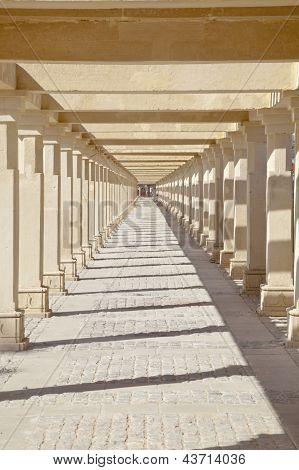 Krishna Temple Footpath Shapes