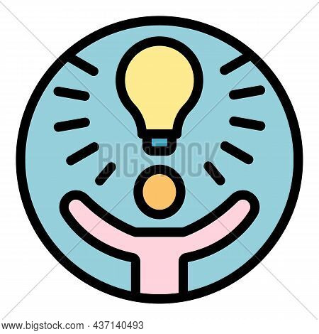 Strategy Idea Innovation Icon. Outline Strategy Idea Innovation Vector Icon Color Flat Isolated