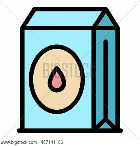Cement Sack Icon. Outline Cement Sack Vector Icon Color Flat Isolated