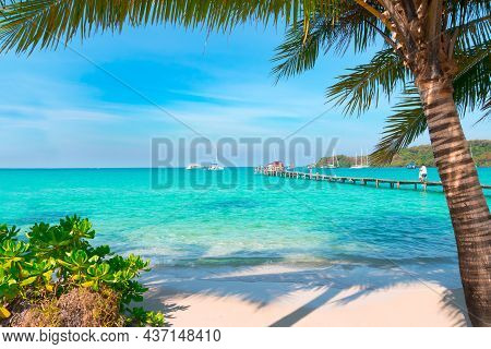 Tropical Landscape At Koh Kood Is A Tropical Island With Emerald Green Water And Beautiful Tropical