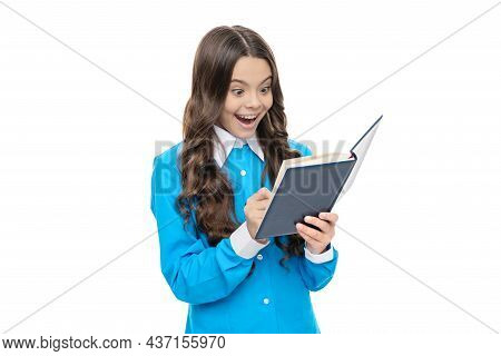 Open Book To Life. Surprised Child Do Written Assignment. Study Materials. The Way You Study Best