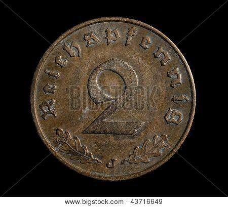Two Reichspfennig Coin