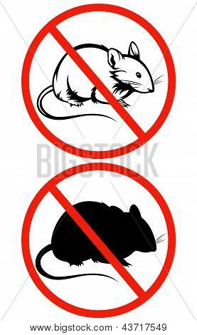 No Rodents Vector Sign