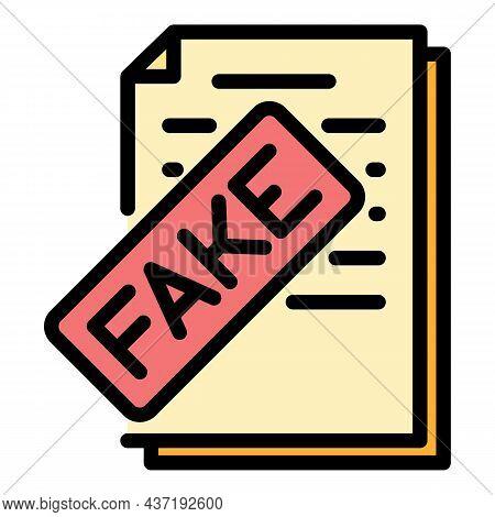 Fake Vote Politics Icon. Outline Fake Vote Politics Vector Icon Color Flat Isolated