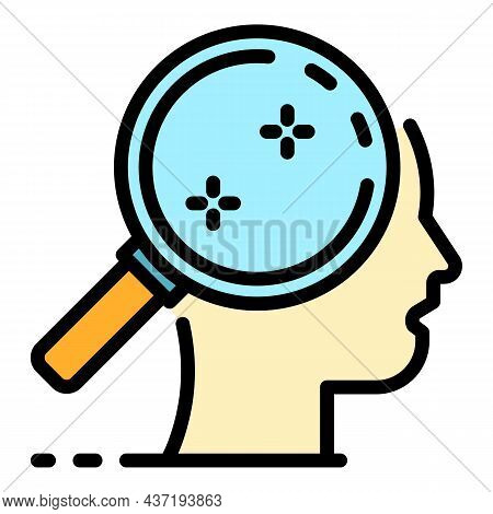 Magnifier Life Skills Icon. Outline Magnifier Life Skills Vector Icon Color Flat Isolated