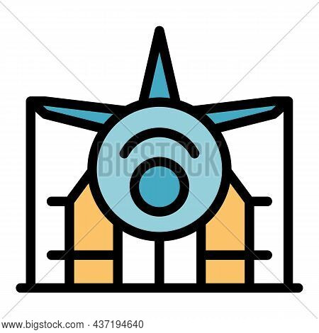 General Airplane Repair Icon. Outline General Airplane Repair Vector Icon Color Flat Isolated
