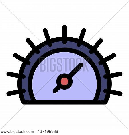 Climate Barometer Icon. Outline Climate Barometer Vector Icon Color Flat Isolated