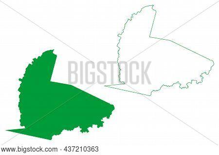 Aracatu Municipality (bahia State, Municipalities Of Brazil, Federative Republic Of Brazil) Map Vect