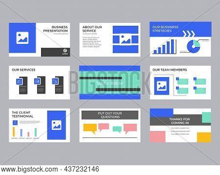Company Investment Presentation, Pitch Deck, Presentation Slides Vector Template. Unique Design Vect