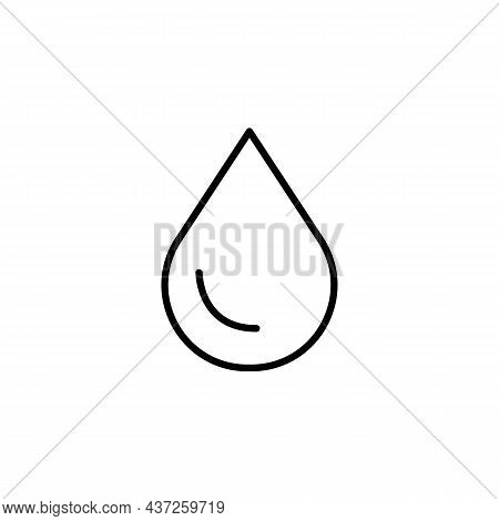 Liquid Drop, Water, Oil Outline Black Icon. Trendy Flat Isolated On White Symbol, Sign Used For: Ill