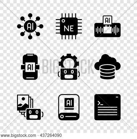 Set Neural Network, Processor Cpu, Artificial Intelligence Ai, Robot, Web Developer Programming Code