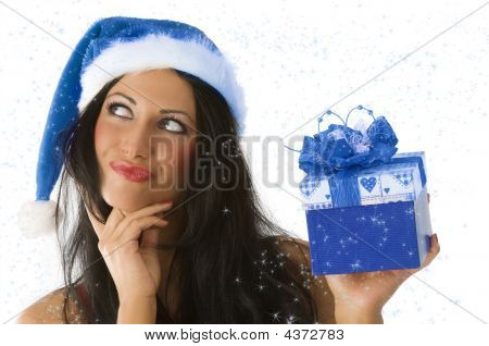 Brunette And Christmas