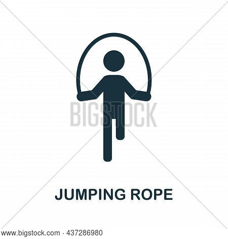 Jumping Rope Icon. Monochrome Sign From Gym Collection. Creative Jumping Rope Icon Illustration For