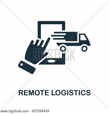 Remote Logistics Icon. Monochrome Sign From Industry 4.0 Collection. Creative Remote Logistics Icon