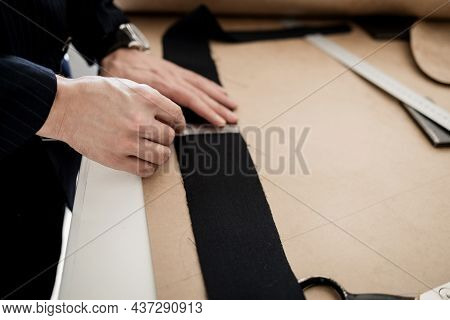 Tailoring, Tailor, Clothing. Drawing Of Pattern For Cutting Clothes