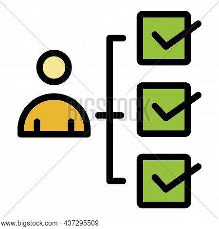 Audit Scheme Icon. Outline Audit Scheme Vector Icon Color Flat Isolated