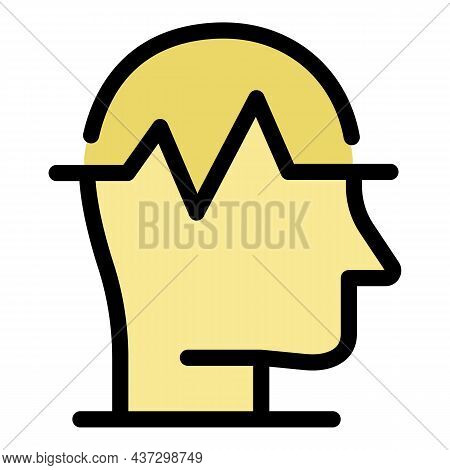 Negative Emotions Icon. Outline Negative Emotions Vector Icon Color Flat Isolated