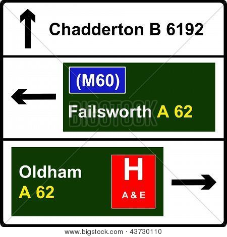 Non-primary route sign