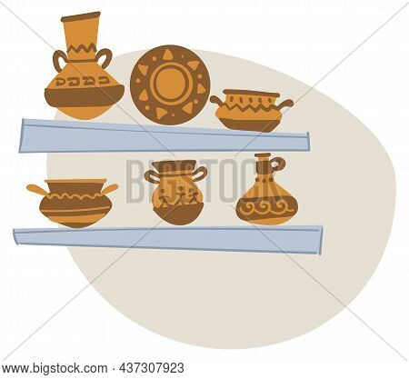 Ancient Aztec Culture And Material Heritage Jugs