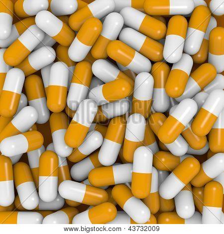 White And Orange Capsules