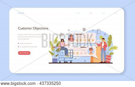 Product Presentation Web Banner Or Landing Page. Entrepreneur Presenting