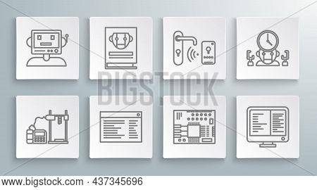 Set Line 3d Printer, Printed Circuit Board Pcb, Computer Monitor Screen, Digital Door Lock With Wire