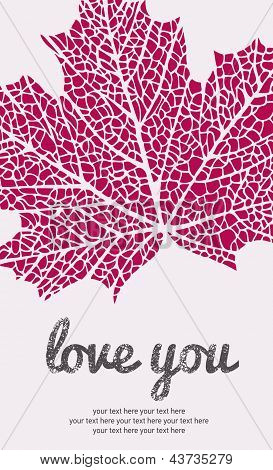 Maple leaf love card