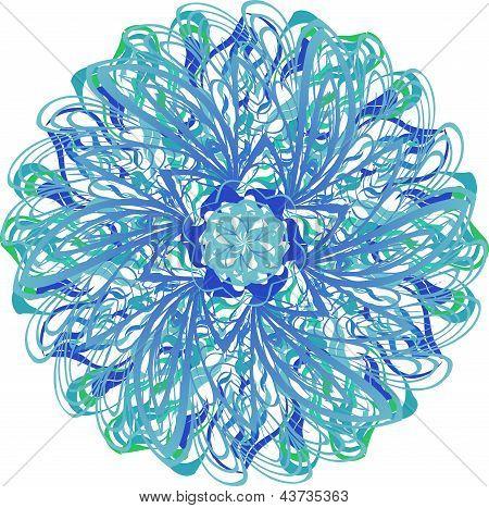 Blue-green Round Pattern