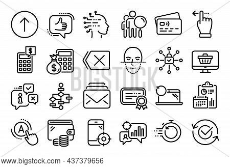 Vector Set Of Seo Statistics, Like And Seo Phone Line Icons Set. Calendar Report, Money Wallet And C