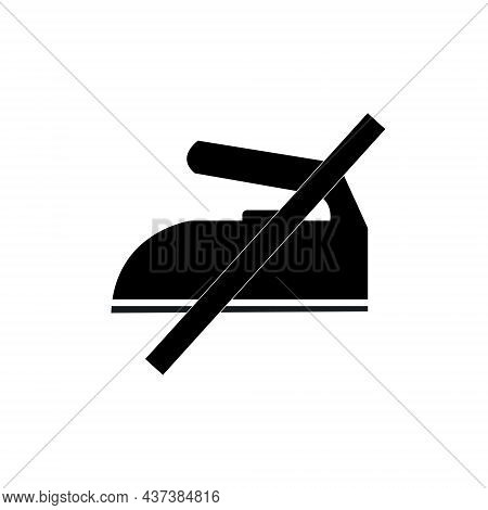 No Iron Needed Sign. Do Not Iron Symbol Drawing By Illustration