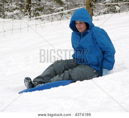 Backyard Snow Sliding