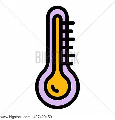 Thermometer In The Steam Room Icon. Outline Thermometer In The Steam Room Vector Icon Color Flat Iso