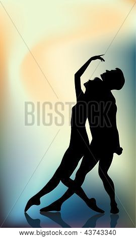 Couple Of A Ballet Dancers