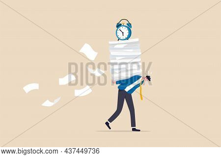 Workload And Aggressive Deadline Causing Exhaustion And Burnout, Overload Or Overworked Office Routi