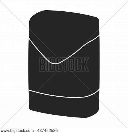 Sack Cement Vector Icon.black Vector Icon Isolated On White Background Sack Cement.