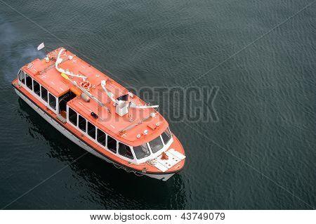 Rescue Boat At Sea