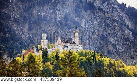 View of the Neuschwanstein Castle in Bavaria