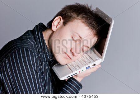 Sleeping Laptop Boy