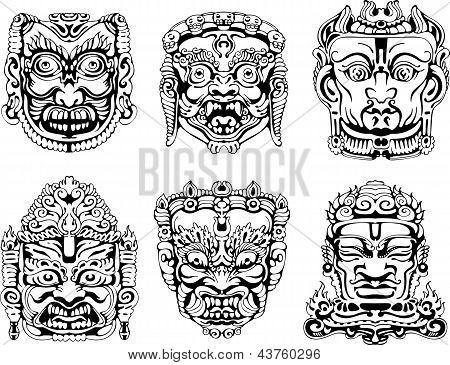 Hindu Deity Masks