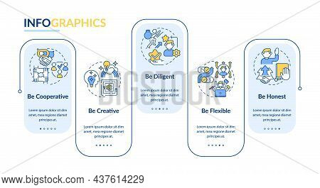 Professional Employee Traits Vector Infographic Template. Work Presentation Outline Design Elements.