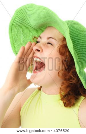 Screaming Young Woman