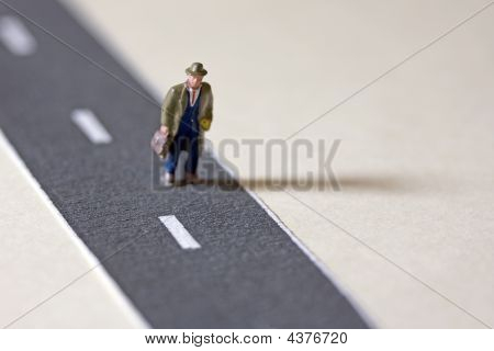 Businessman On Path