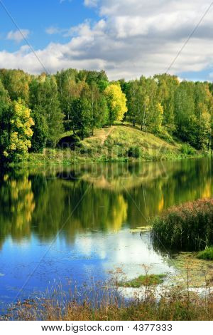 Sestra river Russia Moskovskaya oblast Klin city poster
