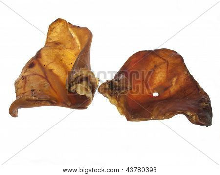 Pig Ears On A White Background