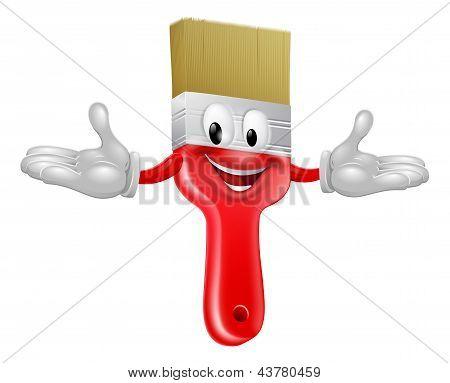 Paint Brush Mascot